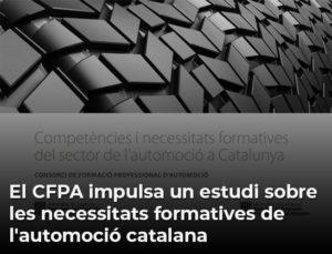 El CFPA impulsa un estudi sobre les necessitats formatives de l'automoció catalana