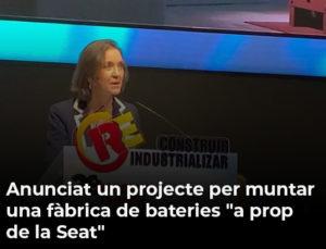"""Anunciat un projecte per muntar una fàbrica de bateries """"a prop de la Seat"""""""